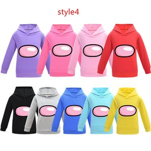 Wholesale kids cartoon shirts resale online - Game Among Us Hoodies Designer Sweatshirts Children Tops Pullover Kids Cartoon Anime Hooded Sweater Junior Boy Girls T shirt Blouse G10602