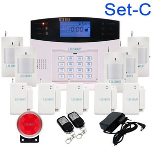 Wholesale keyboard lcd resale online - LCD Keyboard RU SP EG FR IT Voice Wireless SMS Home GSM Alarm system House intelligent auto Burglar Door Security Alarm Systems1