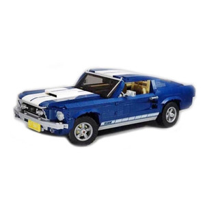 Wholesale toy bricks car resale online - 21047 Creator Expert Forded Mustanged Classic Muscle Race Car GT500 Building Blocks Bricks Toys Gift