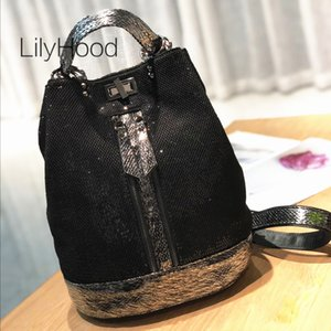 Wholesale mesh backpacks for sale - Group buy Fashion Mesh Netting Iridescent Paillette Bucket Backpack Women Quality Sparkle Shiny Daily Knapsack Bag Lady Casual Bagpack Q1113