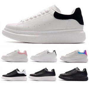 mieux habillée achat en gros de-news_sitemap_homeTop Quality Mens pour femmes BLCAK Velet Sneakers Best Mode White Cuir Plate forme Chaussures Plateau Equipements Daily Dress Party Chaussures EUR35