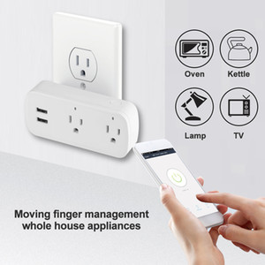Wholesale surge protectors outlets for sale - Group buy Wifi Smart Power Strip Surge Protector US Plug Outlets Electric Socket with USB Ports App Voice Remote Control by Alexa Googlehome IFTTT