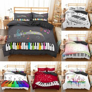 Wholesale crib set music resale online - Homesky Bedding Set Piano Keyboard Music Note Duvet Cover Queen Size Bed Linen Comforter Microfiber Bedding Sets X1029
