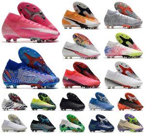 2020 Mercurial Superfly VII 7 360 Elite SE AG Rosa Panther Daybreak Safari CR7 Ronaldo Mens Boys Soccer Shoes Football Boots Cleats 39-45