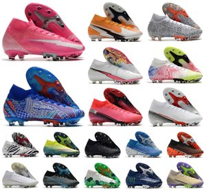 2021 Superfly VII 7 360 Elite SE AG Rosa Panther Daybreak Safari CR7 Ronaldo Mens Boys Soccer Shoes Football Boots Cleats 39-45