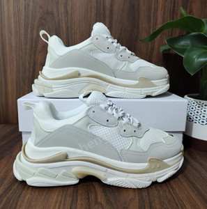 2021 Paris Crystal Bottom Triple S Casual Shoes Dad Shoes Platform Triple S Sneakers For Men Women Vintage Kanye Old Grandpa Trainer Shoes