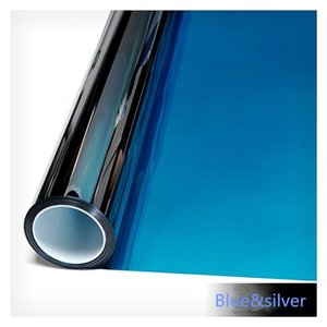 Wholesale blue mirror tint for sale - Group buy 50cm cm Blue Silver Mirrored Window Film House Glass Sticker Solar Tint Reflective Like A Mirror home office decor Y200416