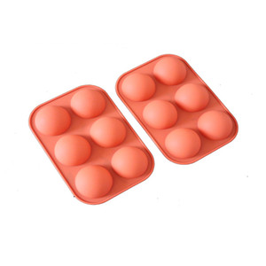 Wholesale sweets products resale online - Spherical Silicone Sweet Snacks Molds Pudding Non Stick Pattern Mold Solid Color Cake Mould Kitchen Baking Products ll P2