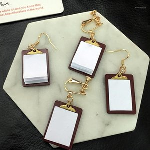 Wholesale exercise books resale online - Fashion Lovely Funny Busy Book Earrings Interesting Handmade Exercise Book Drop Earrings for Women Girl Unique Jewelry Pair1