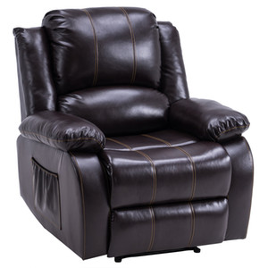Wholesale leather recliners resale online - WACO Power Lift Recliner with Faux Leather Upholstery Living Room Recliner Chairs Dark brown