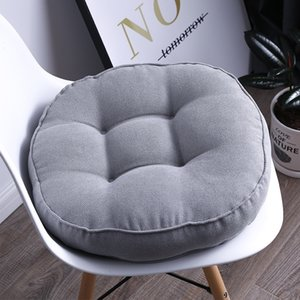 Wholesale high quality chair cushions for sale - Group buy Round Solid Color Sofa Cushion Office Ass Pad Classroom Bench Cushions High Quality Chair Back Cushion Almofada para cadeira