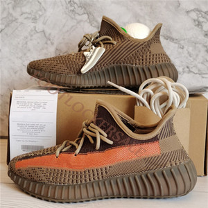 Top Quality New Ash Blue Stone Pearl V2 Running Shoes  350 Luxurys Designers Kanye West Mens Trainers Women Sneakers With Box