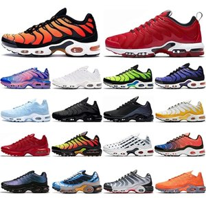 Wholesale 3d painting resale online - Triple black TN Running Shoes for women men Psychic blue D Glasses Spray paint Habanero Red Sport Mens Trainers fashion Sneakers US