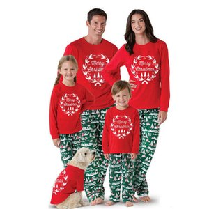 Wholesale christmas kids pjs for sale - Group buy 2019 Family Matching Christmas Pajamas PJs Sets Kids Adult Xmas Sleepwear Nightwear Clothing family casual Santa clothes Set F1221