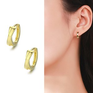 Wholesale earrings for baby girls for sale - Group buy Cute Sterling Silver Gold Color Cross Circle Small Loop Huggie Hoop Earrings For Women Jewelry Kids Baby Toddler Girls Arose
