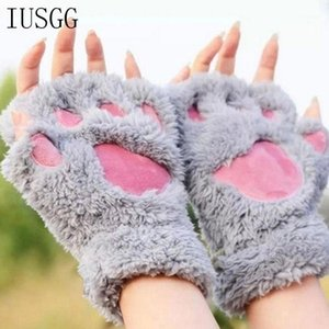 Wholesale white claw costume for sale - Group buy Women Winter Mittens Warm Soft Plush Short Fingerless Plus Gloves Fluffy Bear Cat Gloves Costume Claw Kawaii Winter Glov1