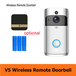 läuten kamera großhandel-2020 neue Smart Home V5 Wireless Camera Video Türklingel p HD WiFi Ring Türklingel Home Security Smartphone Fernüberwachung Alarm Tür Senso