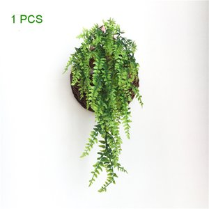 ingrosso piante felci-Piante artificiali Viti Ferns Persico Rattan Rattan Fake Hanging Plant Faux Boston Fern Fern Wedding Garland Wall Decor JK210PH