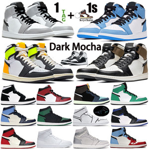 Wholesale volt lights for sale - Group buy 1 s High OG Dark Mocha Volt Gold Mens Basketball Shoes Mid White Shadow Obsidian UNC Chicago Light Smoke Grey women trainers Sneakers