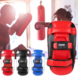 golpe de boxeo al por mayor-Guante de boxeo Kicking Muay Thai Punching Pad Curved Strike Shield Sports Outdoor Gitten Equipo de práctica