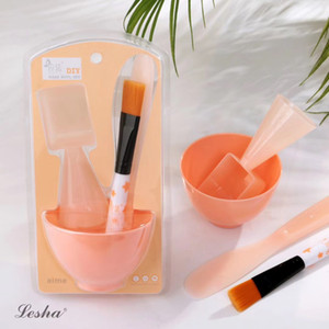 Wholesale face mask bowl sets for sale - Group buy 4PC DIY Facial Face Mask Tool Set Mixing Bowl Brush Stick Spoon Make Up Tools Face Home Facial Eye Body Mask Applicator Set TSLM
