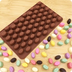 Wholesale diy rubber block for sale - Group buy DIY Coffee Bean Cavity Mold Mini Cavity Soap Ice Block Handmade Mould Chocolate Toast Braed Bakeware Molds New yf L2