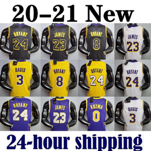 lebrons james venda por atacado-2021 LeBron James Anthony Kyle Davis Kuzma Los Angeles Lakers Kobe Bryant Basketball Jersey Earvin Johnson Shaquille