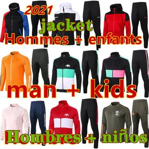 pies para correr al por mayor-New Chandal Futbol Men and Kids Sobrevetement Foot Jerseys Soccer Cheatureuit Football Jersey Entrenamiento Jogging Hoodie Chaqueta