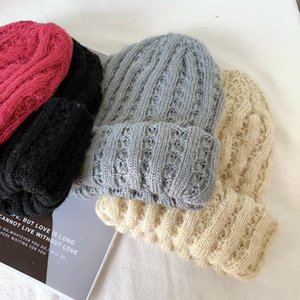 beanies winter fancy al por mayor-202012 DUPIAN DOBLE INVIERNO CALIENTE CALIENTE Fancy Knitting Lady Skullies Gorros Cap Mujeres al aire libre Ocio Hat1