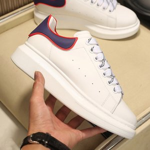 Mens Platform Shoes Women Classic Heightened White Black Blue Suede Shining Diamond Top Leather Sneakers Trendy Flat Designer Casual Shoes
