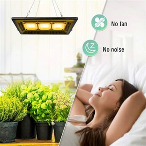 Wholesale high quality grow lights resale online - Hot sale W Square full spectrum Led Grow Light black High Efficiency COB Technology Waterproof high quality Grow Lights CE FCC ROHS