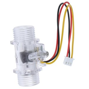 Wholesale water flow sensor switch for sale - Group buy Water Flow Sensor Switch G1 quot Fluid Flow Meter Water Control Transparent Enclosure DC V Use For Heaters Etc