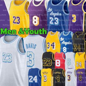 Wholesale basketball youth for sale - Group buy 8 Jerseys Alex Caruso Los Angeles Anthony Kyle Davis Men black Kuzma Retro Youth Lower Merion New Basketball