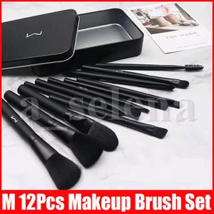 M Makeup 12 PCS Brushes Set Foundation Blending Powder Eyeshadow Contour Concealer Blush Cosmetic Makeup Tool