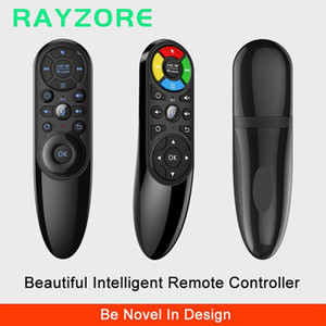 Wholesale air mouse android ir resale online - 2020 Q6 Voice Search Wireless Air Mouse Keys IR Learning G Gyroscope Smart Remote Control Q9 backlit for Android TV BOX