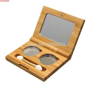 Wholesale eye shadow pallette for sale - Group buy 10pcs Bamboo Eyeshadow Case Pallette Blusher Container Wood Eye Shadow Box Hand made Wooden Cosmetic Compactgood jars