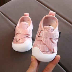 Wholesale newborn baby girl shoes size for sale - Group buy Toddler Baby Shoes For Girl Kids Sneakers Cross tied Mesh Soft Bottom Infant First Walkers Shoes Newborn Pure Color Casual Shoes