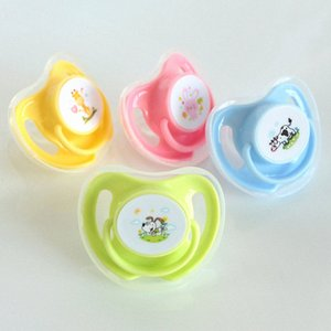Wholesale animals pacifiers for sale - Group buy 1PC Colors Baby Cotton Animals Printing Pacifiers Safe Grade Silicone Cute Baby Round and Flat Nipples Pacifiers UjaD