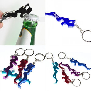 Wholesale aluminium bottle beer resale online - Beauty Shaped Openers Keychains Metal Aluminium Alloy Beer Bottle Opener Keyring Gift Key Buckle For Advertising Promotion Gifts sb E1