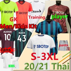 phillips trikot  großhandel-The Whites Player Version LEEDS Fussball Trikots Bamford Alioski Phillips Klich Männer Kinder Kit Jersey Football Shirts Hosen Uniformen