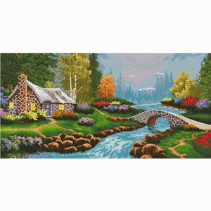 Wholesale easy canvas painting resale online - Canvas painting cross stitch kit printed patterns hobby embroidery beginner easy accessories for needlework lving room decoration