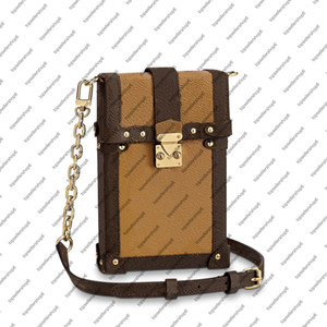 Wholesale bag vertical for sale - Group buy M63913 M67873 VERTICAL TRUNK POCHETTE canvas Clutch messenger women real leather designer square purse MINI crossbody evening shoulder bag