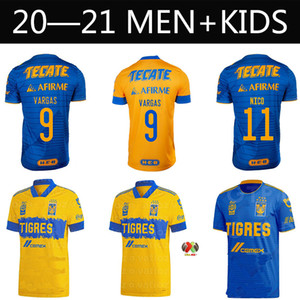 Wholesale children mexico soccer jerseys resale online - 2021 Mexico uanl Tigres soccer jersey for fans star c salcedo Gignac Vargas Pizarro high quality soccer uniform for adults and child