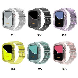 Wholesale strap ones for sale - Group buy New transparent one piece silicone sport strap For Apple Watch mm mm mm mm Watch strap protection case