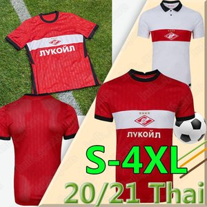 2020 2021 FC Spartak Moscow 4XL Soccer Jerseys Home Red PROMES Bakaev Zobnin Schürrle Dzhikiya Shirts Away White MEN Football Uniforms THAI