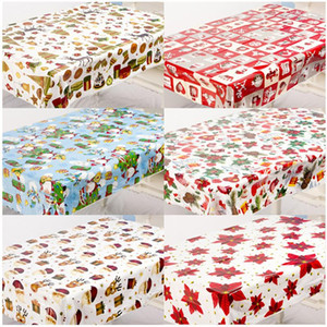 Wholesale tablecloth christmas for sale - Group buy 2021 New Year Gifts pc Christmas Disposable Tablecloth Christmas Decorations for Home Ornaments Xmas Noel Navidad Decor Garland