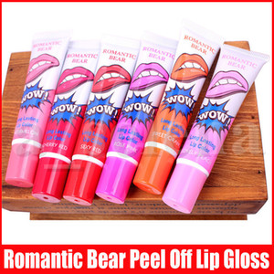 Wholesale tearing lipstick resale online - Romantic bear lipgloss Long Lasting Lip Color magic color tear pull lip gloss second generation makeup Magic lipstick Colors