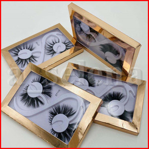 2 Pairs Long Thick 20MM Lashes 3D Mink Hair Fake False Eyelashes Dramatic Wispy Fluffy Full Strip Lashes Handmade Eye Makeup Tools