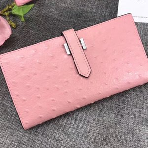 Wholesale bag vertical for sale - Group buy Coin Purse Women Wallets Hand Bag Fashion Genuine Leather Solid Leather Zipper Pocket Vertical Wallet Ostrich Pattern Hasp High Quality Bag