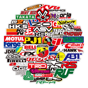 Wholesale laptop stickers for sale - Group buy 100PCS Racing Car Stickers Car Styling JDM Waterproof Sticker to DIY Motocross Racing Helmet Skateboard Bicycle Laptop Luggage